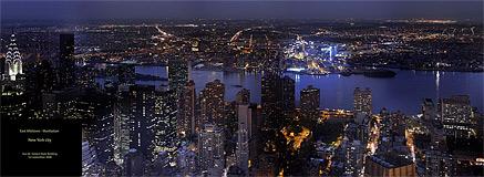 vue de l'empire state building est de nuit